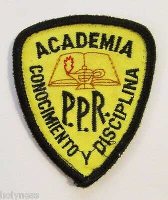 Vintage Embroidered Patch / Puerto Rico Police Academy / #1