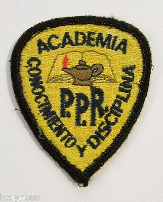 Vintage Embroidered Patch / Puerto Rico Police Academy / #3