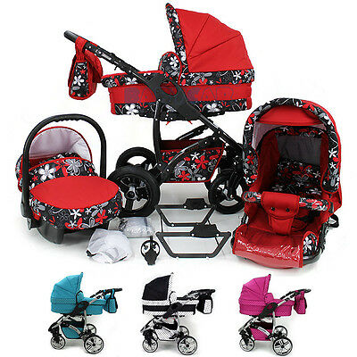 New Baby Travel System Car seat - Swivel wheels Pram Pushchair Stroller Buggy