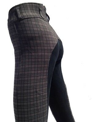 Ladies Breeches, Womens Checked Jodhpurs,Full Seat Suede. Only Size 8,14,16 left