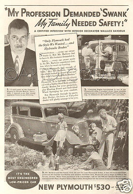 VINTAGE PLYMOUTH CARS Print Ad 1938 - $7 50 | PicClick