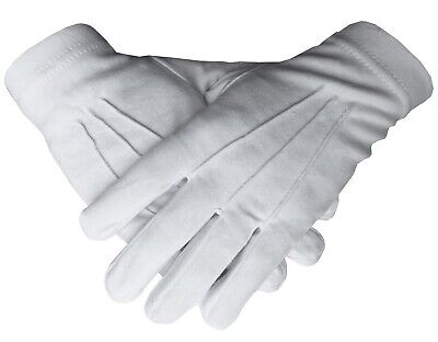 Masonic Regalia 100% Cotton White Gloves BT038