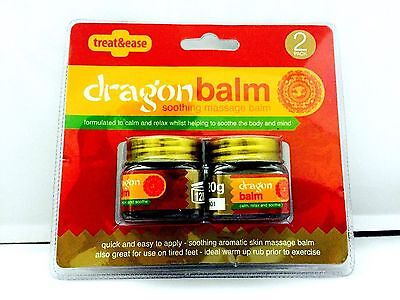 Pack Of 2 Dragon Balm, Soothing Massage Balm Calm & Relax Body Pain Of Muscles.