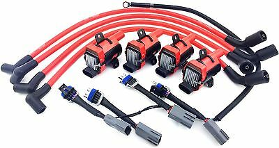 D585 Uf262 Ignition Coil Packs Mazda 10Mm Wires Rx-8 Rx8 Adapter Wiring Harness