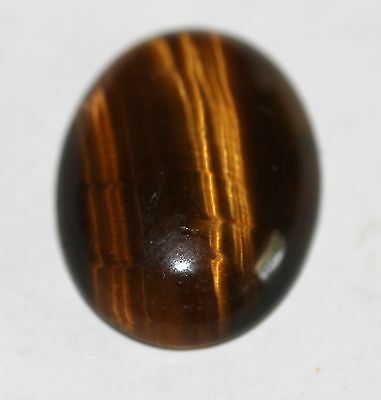 Natural golden Tiger Eye Cabochon 16 x 12mm  TE - 05