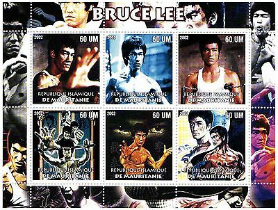 Mauritius Stamps 2002 Bruce Lee stamp sheets / MNH