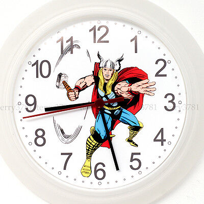 THOR Wall Clock NEW -24cm Comic Superhero hulk avengers wonderwoman Christmas