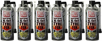 6 x 450ml Instant Quick Puncture Repair Car Tyre Fix Sealant Van Vehicle New