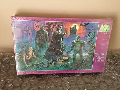 MONSTERS JIGSAW PUZZLE & CASSE-TETE - FRANKENSTEIN Grand Toys Dracula Creature