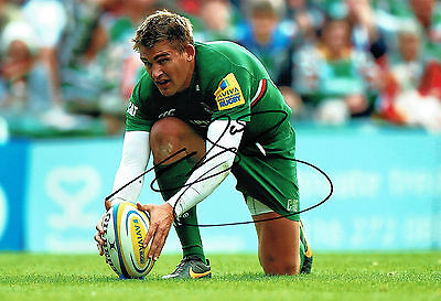 Toby FLOOD Signed Autograph 12x8 Photo AFTAL COA England Rugby Player