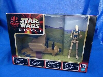 17.856 Star Wars EPISODE 1 ARMOURED SCOUT TANK AND BATTLE DROID EU BOX MISB