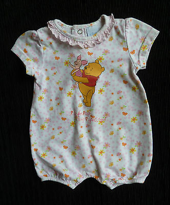Baby clothes GIRL 0-3m Disney Pooh bear soft cotton pink romper floral SEE SHOP!