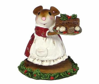 BUCHE DE NOEL by Wee Forest Folk, WFF# M-544, New Christmas Mouse 2015