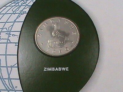 ZIMBABWE  20 cents  1980   UNC   Coins  of  all  Nations   *perfect  condition*