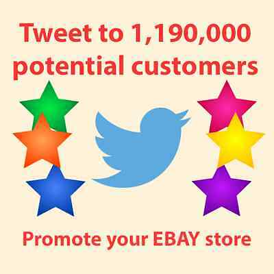 Promote eBay Store, Twitter Tweet Advertisement to 1,190,000 real people, SEO