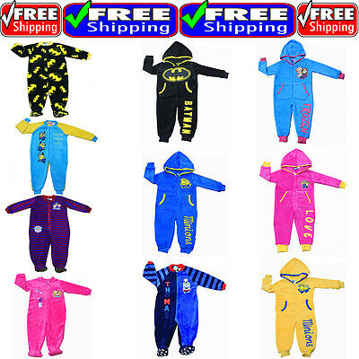 New Sz 2~8 Kids Pyjamas Onesie Sleepwear Batman Minion Frozen Pj Pjs Boys Girls