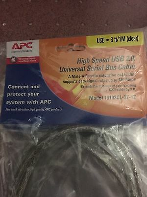 New APC 2.0 High Speed USB Cable Extension A Male - B Female   LOT of 5 packaged