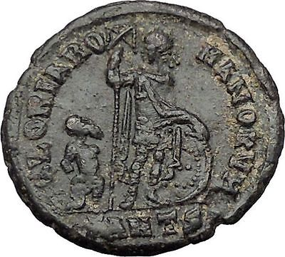 ARCADIUS with Spear and Shield & Hand of God 383AD Ancient Roman Coin i54426