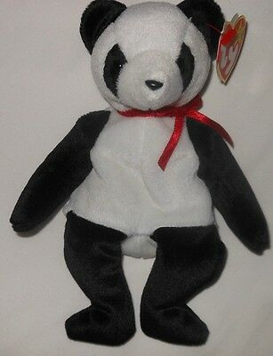 TY  BEANIE BABY   FORTUNE  PANDA 97 with TUSH TAG 98 ERRORS  MINT