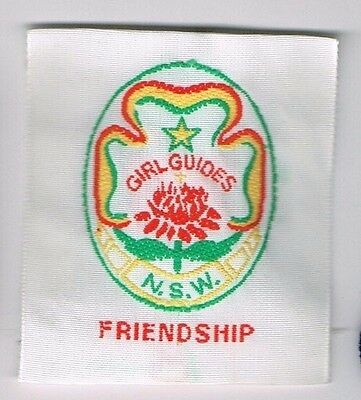 Girl Guides NSW Friendship Souvenir Cloth Patch/Badge