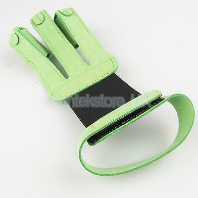 Archery Hunting 3 Finger Hand Protector Glove Guard Bow Shooting Safety Gear