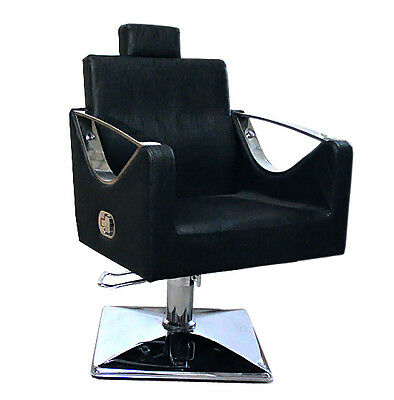Black Salon Chair Styling Fashion Barber Hairdressing 9850