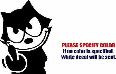 Vinyl Decal Sticker - Felix The Cat The Middle Finger Car Truck Bumper Fun 7""
