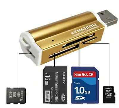 USB all in one Card Reader for SD/TF M2 MMC SDHC MS Micro SD SDHC Laptop PC