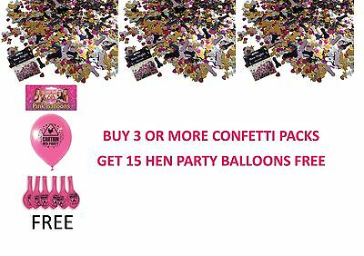 WILLY Confetti Hen Party Night Do Table Scatters Sprinkles Accessories