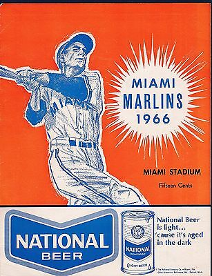 Satchell Paige signed 1966 Miami Marlins baseball scorecard Jsa authenticated