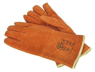Sealey Leather Welding Gauntlets Lined Heavy-Duty - Pair SSP151