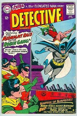Detective Comics #342 August 1965 VG The Robin Gang