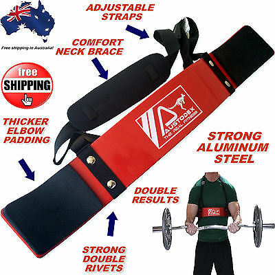 Austodex Weight Lifting Bodybuilding Bicep Arnold Arm Blaster Ez Bar Curl Arms