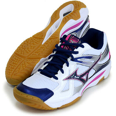 Mizuno Japan Men's WAVE ODEEN LO Volleyball Shoes White Navy V1GA1650 2017 New