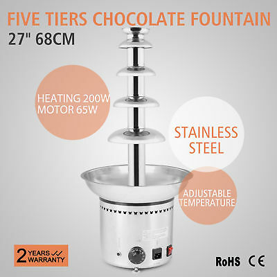 Chocolate Fountain Professional 5 Five Tiers Commercial Economy Energy Party