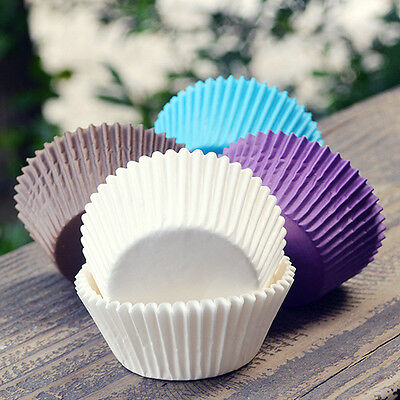 100pcs Paper Cake Cupcake Liner Case Wrapper Muffin Baking Cup