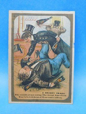 Great American Tea Company Tea & Toilet Sets Brandy Smash Trade Card 1800s