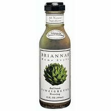 Briannas Real French Vinaigrette Salad Dressing, 12 Ounce -- 6 per case.