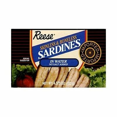 Reese Skinless and Boneless Sardine in Water, 4.38 Ounce -- 10 per case.