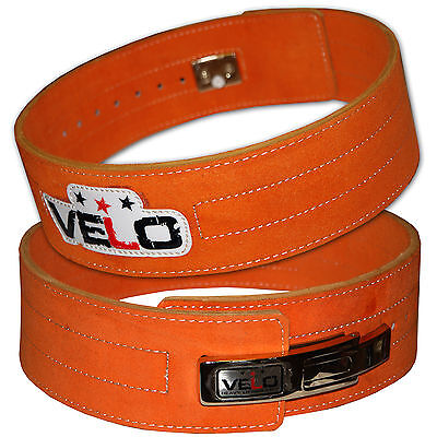 VELO Weight Power Lifting Leather Lever Belt Gym Training Powerlifting Straps