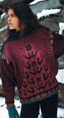 Lise Kolstad & Tone Takle Bird Sweater with Cable Design & Embroidery Kit