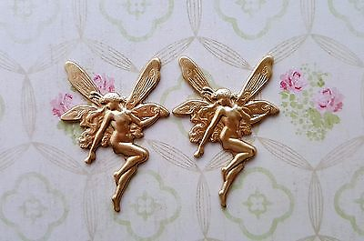 Raw Brass Fairy Stampings (2) - S6431