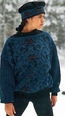 Lise Kolstad & Tone Takle Sweater with Birds, Cables, & Embroidery Kit
