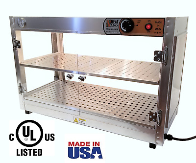 HeatMax 30x15x20 Commercial Food Warmer Pizza Patty Pastry Display Case