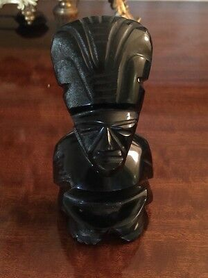 Vintage South American Carved Stone In Form Of Pre Columbian Art