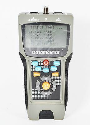 Clearance Datamaster Professional Lan Cable Tester Cat T0046 Good Cond #713115