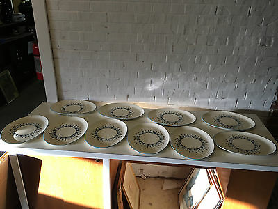 Vintage Modern Marcrest Swiss Alpine Chalet Set of 10 Oval Plates / Platters