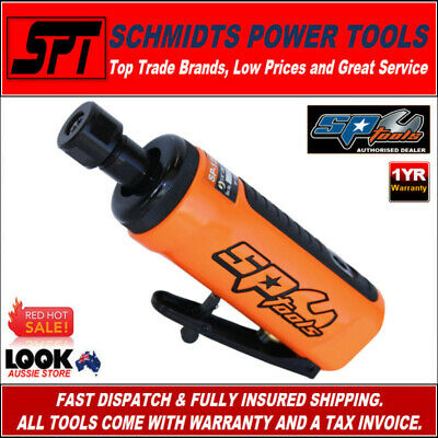 "Sp Tools Sp-1210 Straight Air Die Grinder 1/4"" Collet Pneumatic 2 Bonus Burrs"