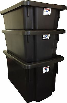 Fish Tub Storage Crate Natural, Black, Blue or Red 32L, 50L, 68L (lids extra)