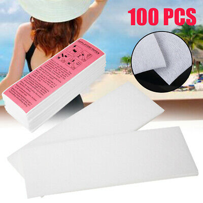 100Pcs  Beauty Paper Wax Strips for Body Waxing Best Quality Non Woven Tools